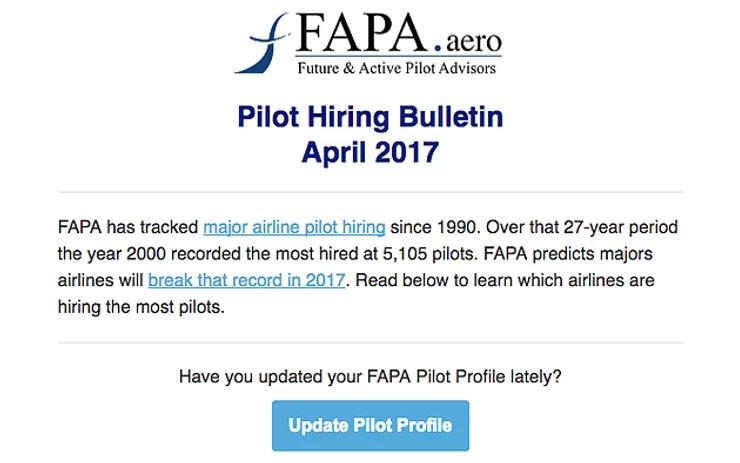 Pilot hiring bulletin april 2017