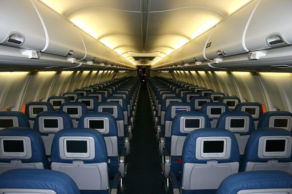 Interior passenger airliner cabin