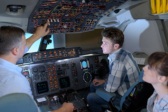 student learning aviation