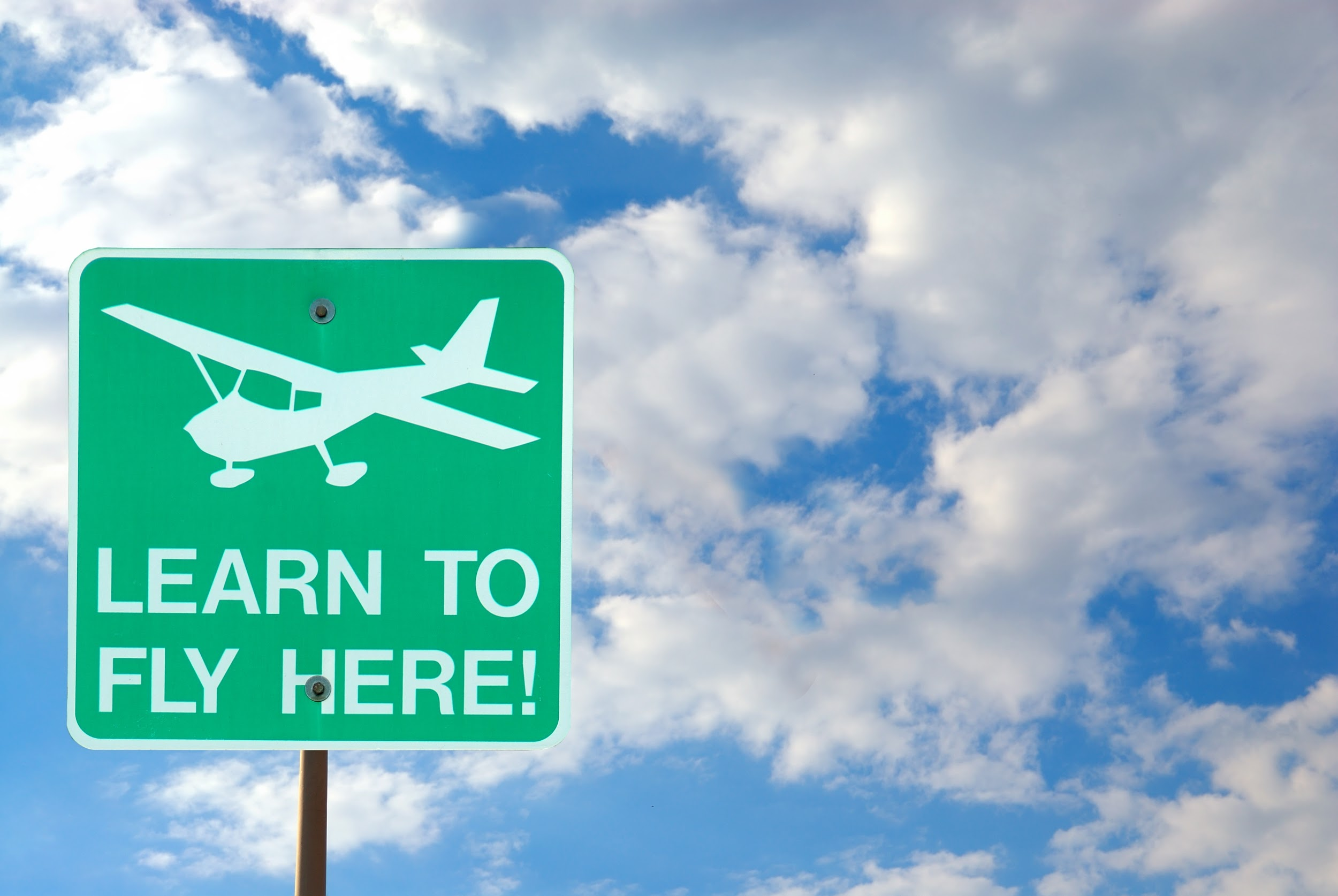 Airport Sign - Learn To Fly Here