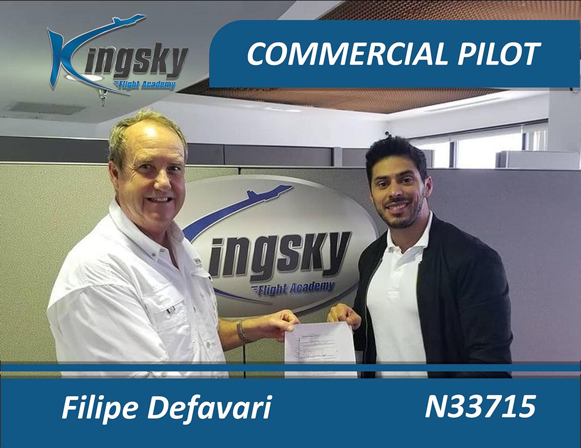 Feilipe Defavari Commercial Pilot testimonial