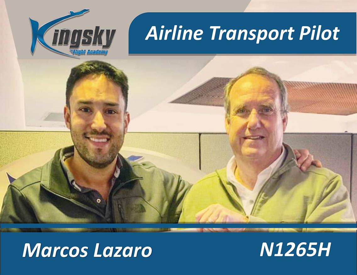 Airline Transport Pilot testimonial