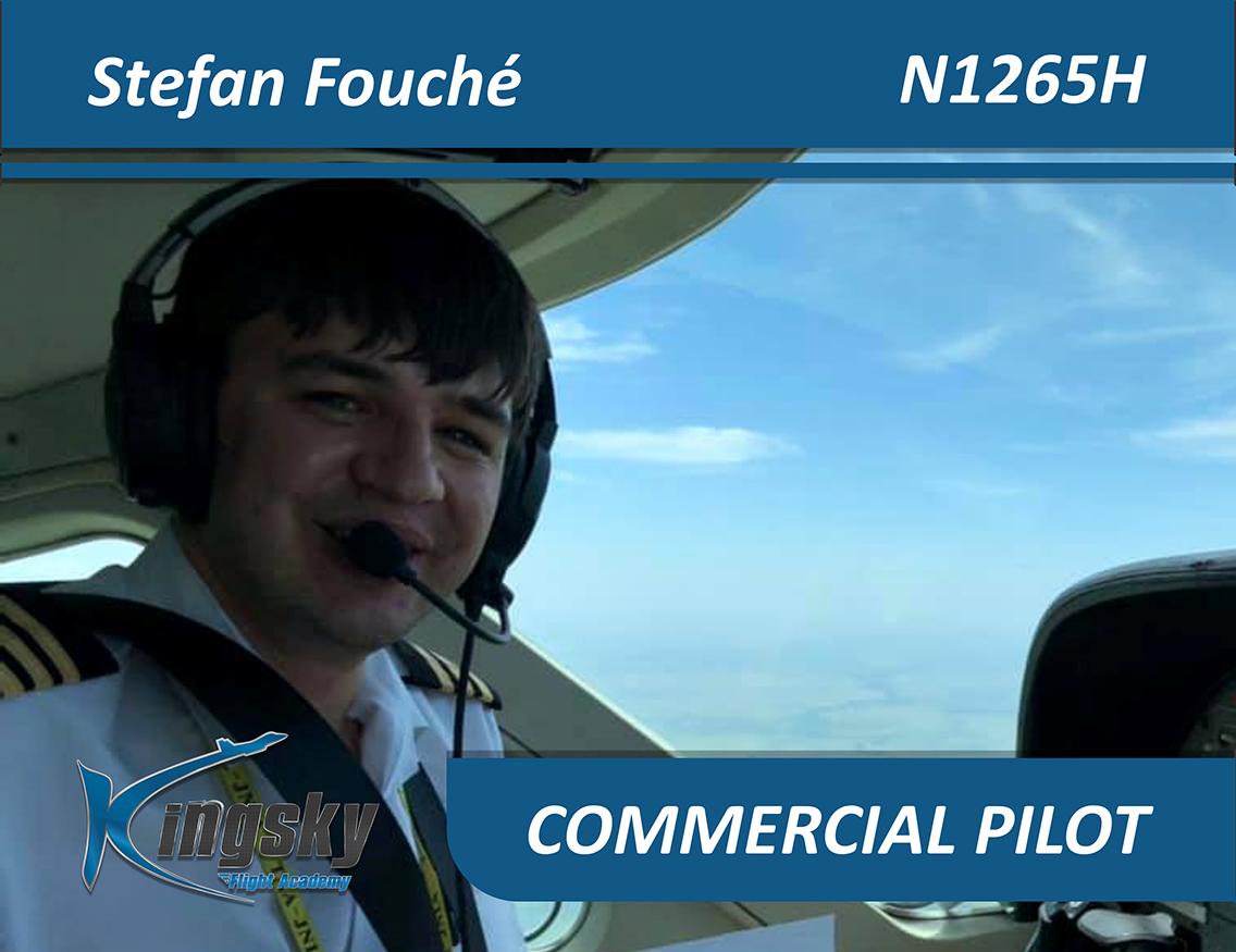 portrait of commercial pilot