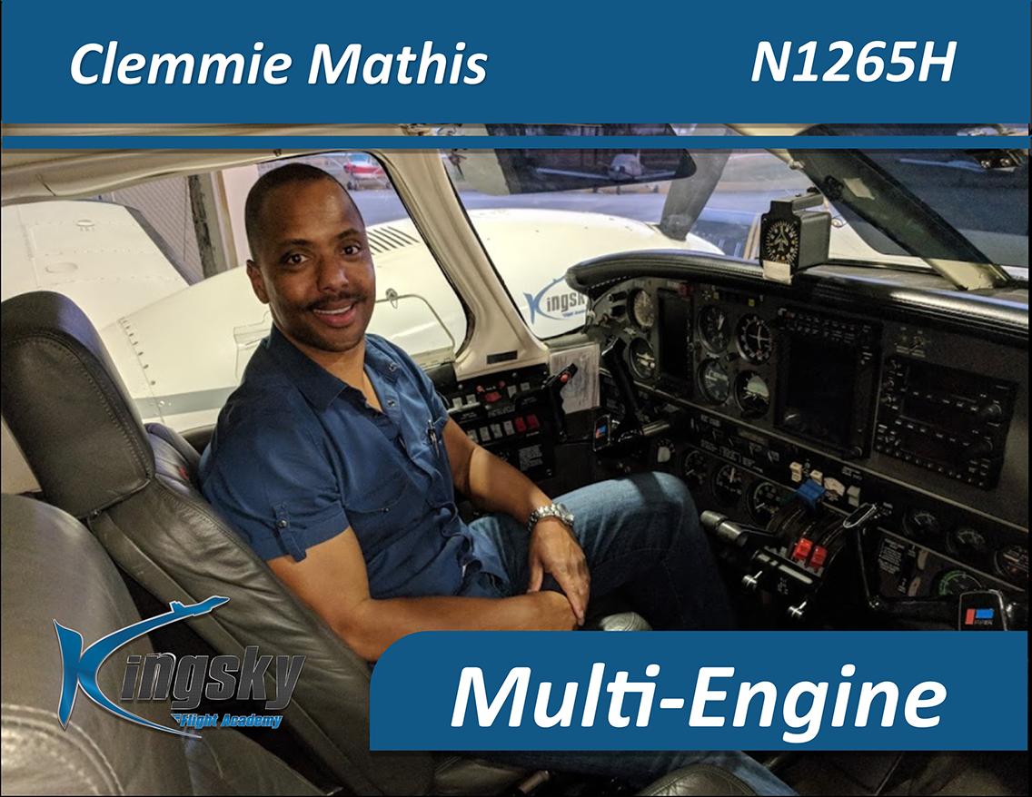 Multi Engine graduate Clemmie Mathis