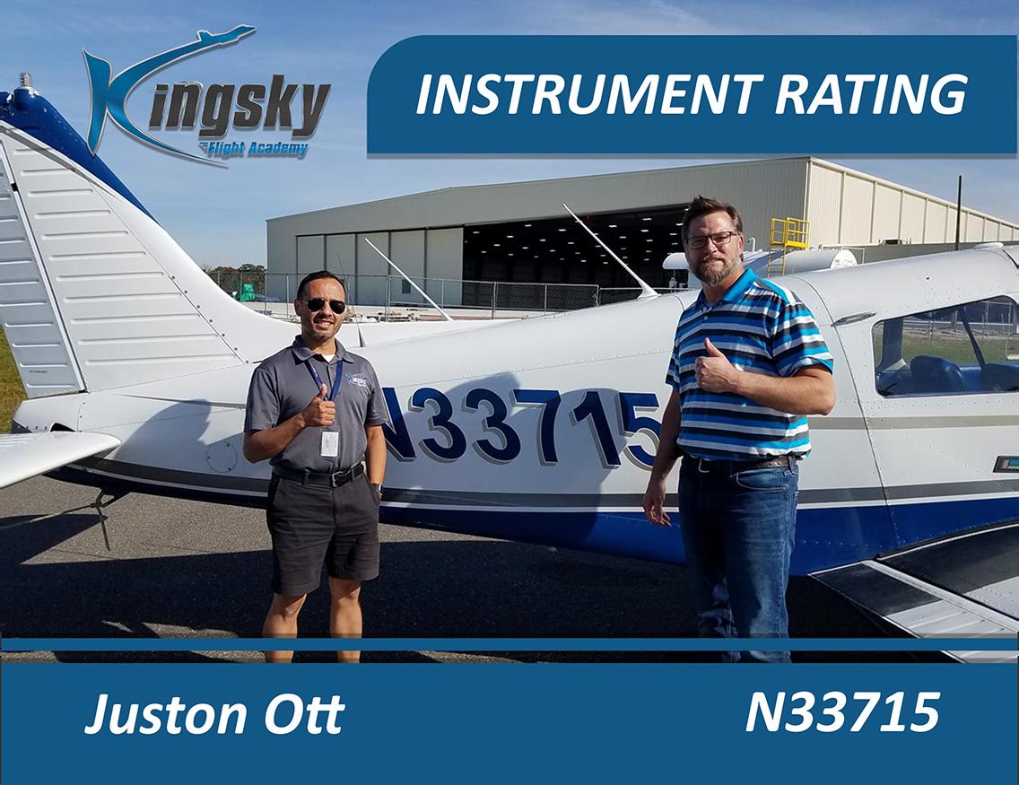 Juston Ott instrument rating
